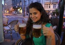 drinking in prague, czech republic