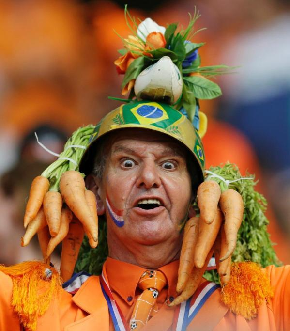 crazy world cup fans in brazil