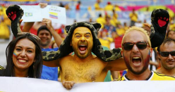 world cup pictures of fans in brazil