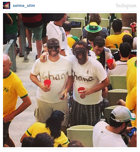 world cup pictures of ghana black face fans